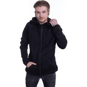 アーバンクラシックス Urban Classics メンズ パーカー トップス - Knit Fleece Black - Zipper black fermart-hobby