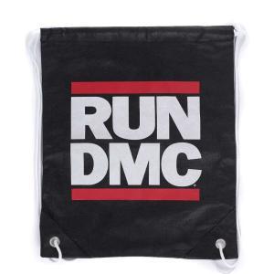 RUN DMC ユニセックス バックパック・リュック バッグ Logo Drawstring Backpack black|fermart-hobby