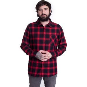 アーバンクラシックス Urban Classics メンズ シャツ トップス - Oversized Checked Black/Red - Shirt black fermart-hobby