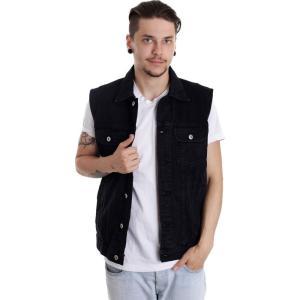 アーバンクラシックス Urban Classics メンズ ベスト・ジレ トップス - Denim Black Dark - Jeans Vest black fermart-hobby