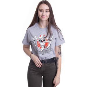 インペリコン Impericon レディース Tシャツ トップス - Scary Terry Aww Bitch Heather Grey - T-Shirt grey fermart-hobby
