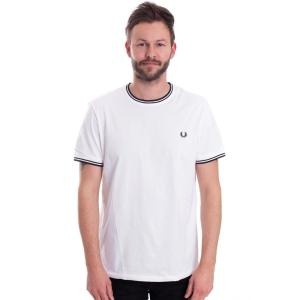 フレッドペリー Fred Perry メンズ Tシャツ トップス Twin Tipped White T-Shirt white|fermart-hobby
