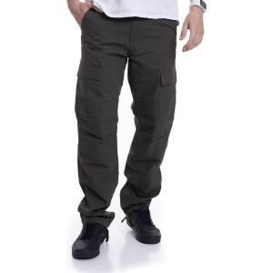 カーハート Carhartt WIP メンズ ジーンズ・デニム ボトムス・パンツ - Aviation Rinsed Cypress - Jeans green|fermart-hobby