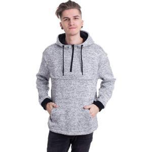 アーバンクラシックス Urban Classics メンズ パーカー トップス - Knit Fleece Pull Over Grey - Hoodie grey fermart-hobby