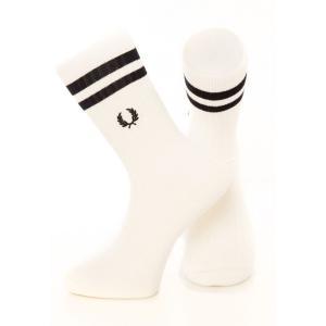フレッドペリー Fred Perry ユニセックス ソックス インナー・下着 - Twin Tipped Sport Snow White - Socks white|fermart-hobby