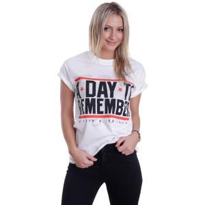 ア デイ トゥ リメンバー A Day To Remember レディース Tシャツ トップス Hardcore White T-Shirt white|fermart-hobby
