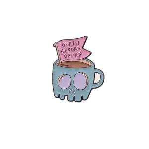 パンキーピンズ Punky Pins ユニセックス ブローチ ジュエリー・アクセサリー Death Before Decaf Coffee Enamel Pin multicolored|fermart-hobby
