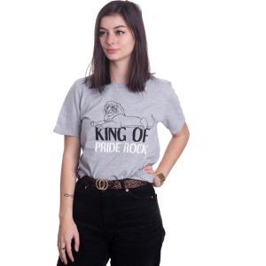 インペリコン Impericon レディース Tシャツ トップス - King Of Pride Rock Grey - T-Shirt grey|fermart-hobby