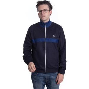 フレッドペリー Fred Perry メンズ ジャージ アウター - Chest Panel Track Navy - Track Jacket blue|fermart-hobby