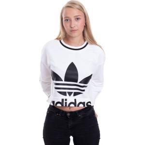 アディダス Adidas レディース ニット・セーター トップス - Cropped White - Sweater white|fermart-hobby