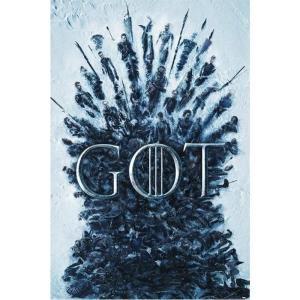 ゲーム オブ スローンズ Game Of Thrones グッズ ポスター - Throne Of The Dead - Poster blue|fermart-hobby