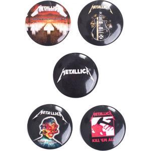 メタリカ Metallica ユニセックス 雑貨 Pack Of 5 Button Set black|fermart-hobby