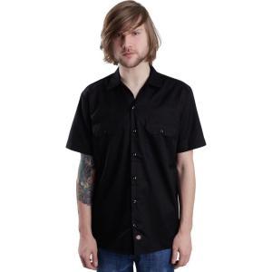 ディッキーズ Dickies メンズ 半袖シャツ トップス - Short Sleeve Work - Shirt black fermart-hobby