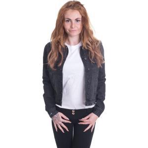 アーバンクラシックス Urban Classics レディース ジャケット アウター Denim Black Washed Jeans Jacket black|fermart-hobby