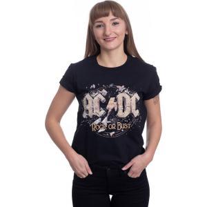 インペリコン Impericon レディース Tシャツ トップス - Rock Or Bust - T-Shirt black|fermart-hobby