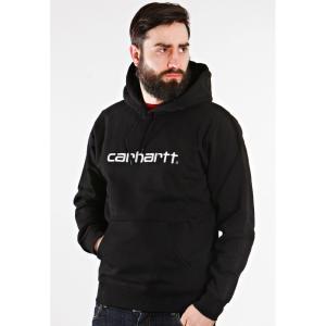 カーハート Carhartt WIP メンズ パーカー トップス Hooded Carhartt Black/White Hoodie black|fermart-hobby
