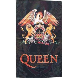 クイーン Queen グッズ Crest Flag black|fermart-hobby