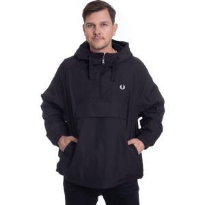 フレッドペリー Fred Perry メンズ ジャケット アウター - Ripstop Half Zip Black - Jacket black|fermart-hobby