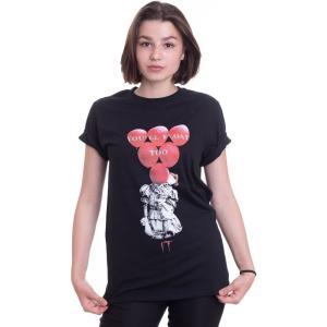 インペリコン Impericon レディース Tシャツ トップス - Red Balloons Float - T-Shirt black|fermart-hobby