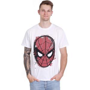 インペリコン Impericon メンズ Tシャツ トップス - Spidey Big Head Distressed White - T-Shirt white|fermart-hobby