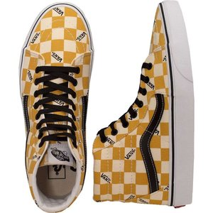 ヴァンズ Vans メンズ スケートボード シューズ・靴 - Sk8-Hi (Big Check) Ylk Ylw/True White - Shoes yellow|fermart-hobby