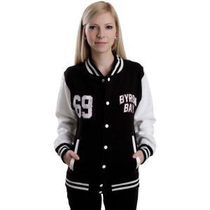 パークウェイ ドライヴ Parkway Drive レディース ジャケット アウター Byron Bay Black/White College Jacket black|fermart-hobby