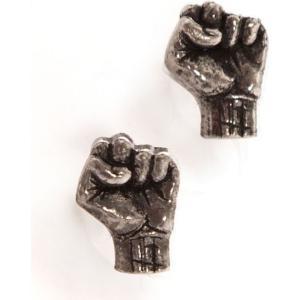 レイジ アゲインスト ザ マシーン Rage Against The Machine ユニセックス イヤリング・ピアス ジュエリー・アクセサリー Fist Earring grey|fermart-hobby