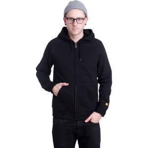 カーハート Carhartt WIP メンズ パーカー トップス - Hooded Chase Black/Gold - Zipper black|fermart-hobby