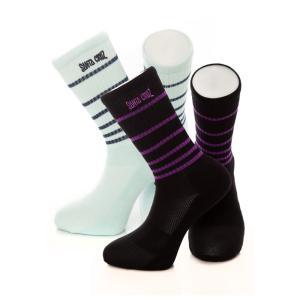 サンタクルーズ Santa Cruz ユニセックス ソックス インナー・下着 Ripple Pack Of 2 Assorted Socks multicolored|fermart-hobby