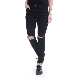 チープマンデー Cheap Monday レディース ジーンズ・デニム ボトムス・パンツ Tight Ripped Black Jeans black|fermart-hobby