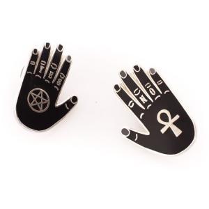 パンキーピンズ Punky Pins ユニセックス ブローチ ジュエリー・アクセサリー Yes & No Hand Enamel Pin black|fermart-hobby