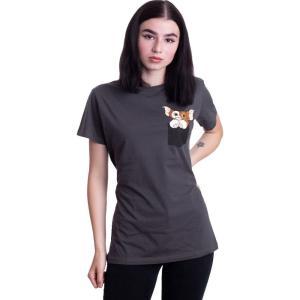 インペリコン Impericon レディース Tシャツ ポケット トップス - Pocket Gizmo Dark Grey - T-Shirt grey|fermart-hobby
