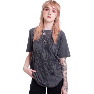 インペリコン Impericon レディース Tシャツ トップス - Large Logo - Black Dye Sub With Black Overdye - T-Shirt black|fermart-hobby