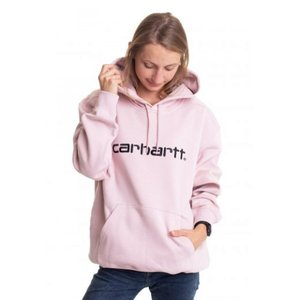 カーハート Carhartt WIP レディース パーカー トップス - Hooded Sweat Frosted Pink/Black - Hoodie pink|fermart-hobby