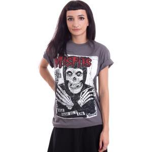 インペリコン Impericon レディース Tシャツ トップス - All Ages Skeleton Charcoal - T-Shirt grey|fermart-hobby