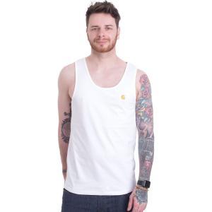カーハート Carhartt WIP メンズ タンクトップ トップス Chase A-Shirt White/Gold Tank white|fermart-hobby