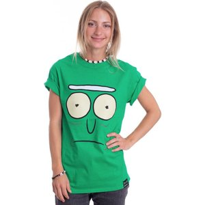 インペリコン Impericon レディース Tシャツ トップス - Pickle Rick Face Green - T-Shirt green fermart-hobby