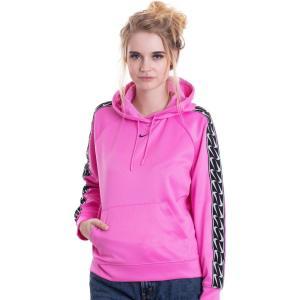 ナイキ Nike レディース パーカー トップス - NSW Logo Tape C Rose/Black - Hoodie pink|fermart-hobby