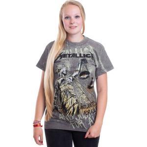 インペリコン Impericon レディース Tシャツ トップス - Justice Neon All Over - T-Shirt grey|fermart-hobby