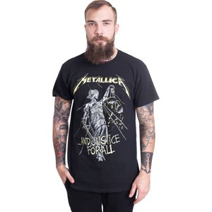 メタリカ Metallica メンズ Tシャツ トップス And Justice For All Tracks T-Shirt black|fermart-hobby