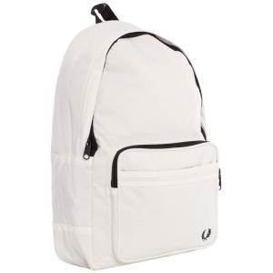 フレッドペリー Fred Perry ユニセックス バックパック・リュック バッグ Twin Tipped Snow White Backpack white|fermart-hobby