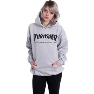スラッシャー Thrasher レディース パーカー トップス Skate-Mag Greymottled Hoodie grey|fermart-hobby