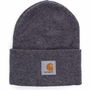 カーハート Carhartt WIP ユニセックス ニット ビーニー 帽子 - Acrylic Watch Dark Grey Heather - Beanie grey|fermart-hobby