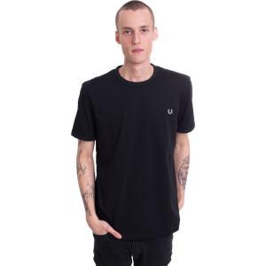 フレッドペリー Fred Perry メンズ Tシャツ トップス - Ringer Black - T-Shirt black|fermart-hobby
