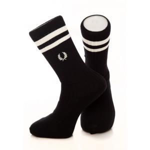 フレッドペリー Fred Perry ユニセックス ソックス インナー・下着 - Twin Tipped Sport Black - Socks black|fermart-hobby
