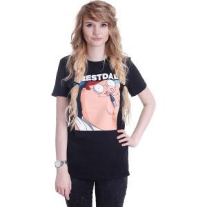 インペリコン Impericon レディース Tシャツ トップス - Hashtag Best Dad - T-Shirt black|fermart-hobby
