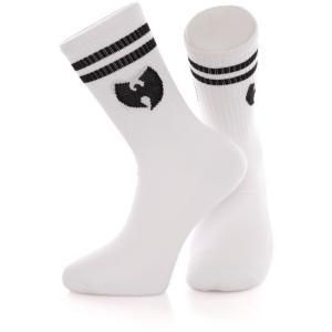 ウータン クラン Wu-Tang Clan ユニセックス ソックス インナー・下着 Logo White/Black Socks white fermart-hobby