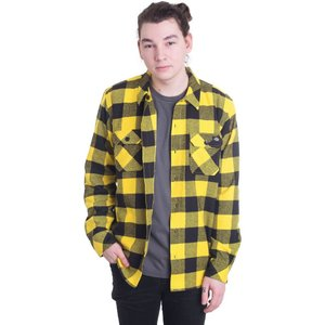 ディッキーズ Dickies メンズ シャツ トップス Sacramento Yellow Shirt yellow|fermart-hobby