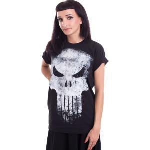 インペリコン Impericon レディース Tシャツ トップス - Distressed Skull - T-Shirt black|fermart-hobby
