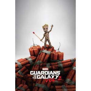 ガーディアンズ オブ ギャラクシー Guardians Of The Galaxy グッズ Groot Dynamite Poster multicolored fermart-hobby